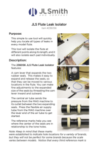 236056 Flute Leak Isolator dragged 1