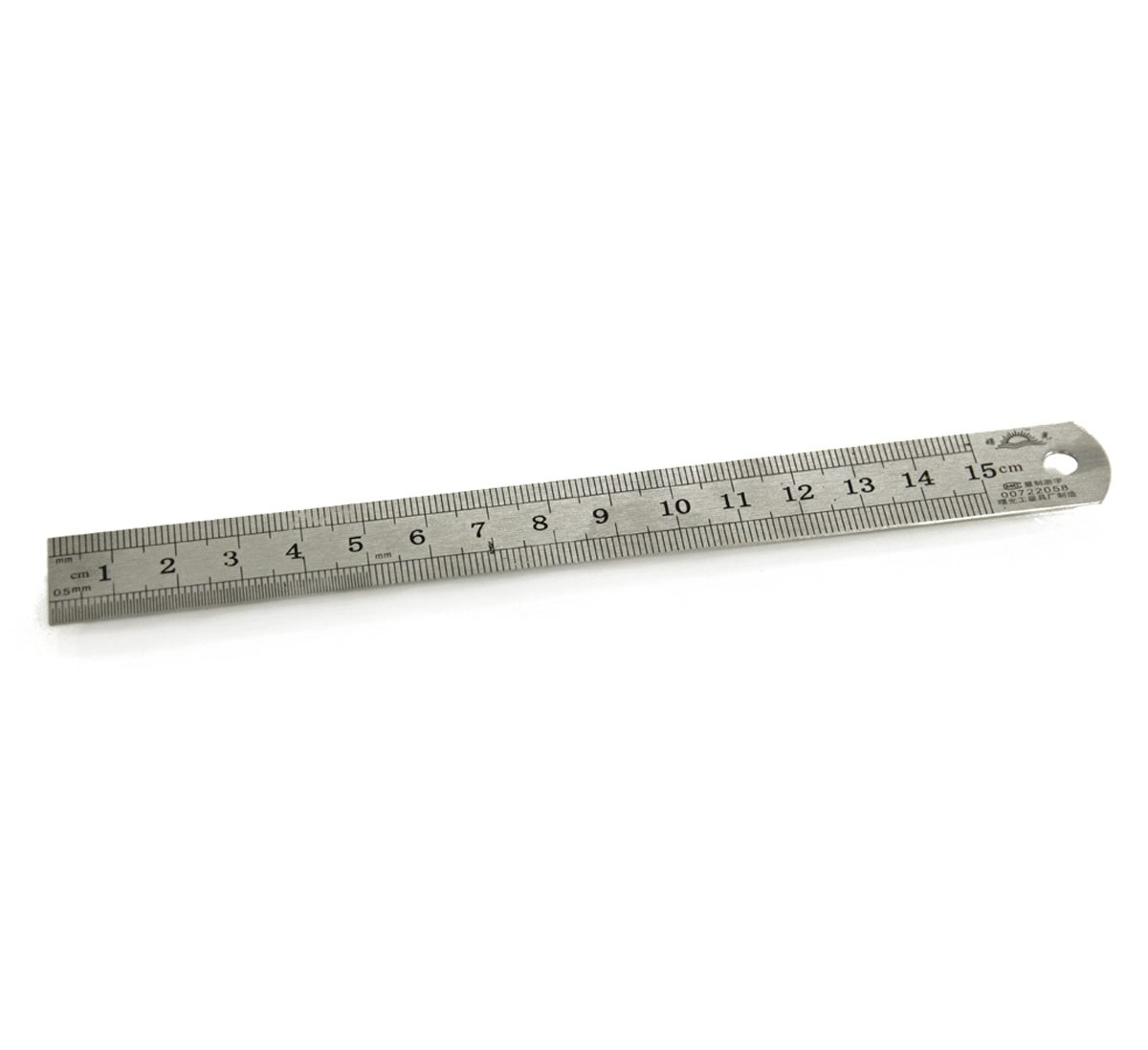 6 x 12 metric and 64s steel ruler