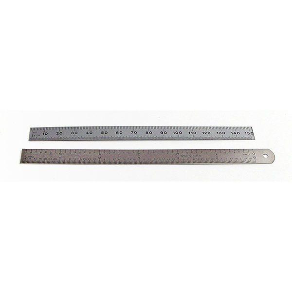6x12 us in 64s steel ruler