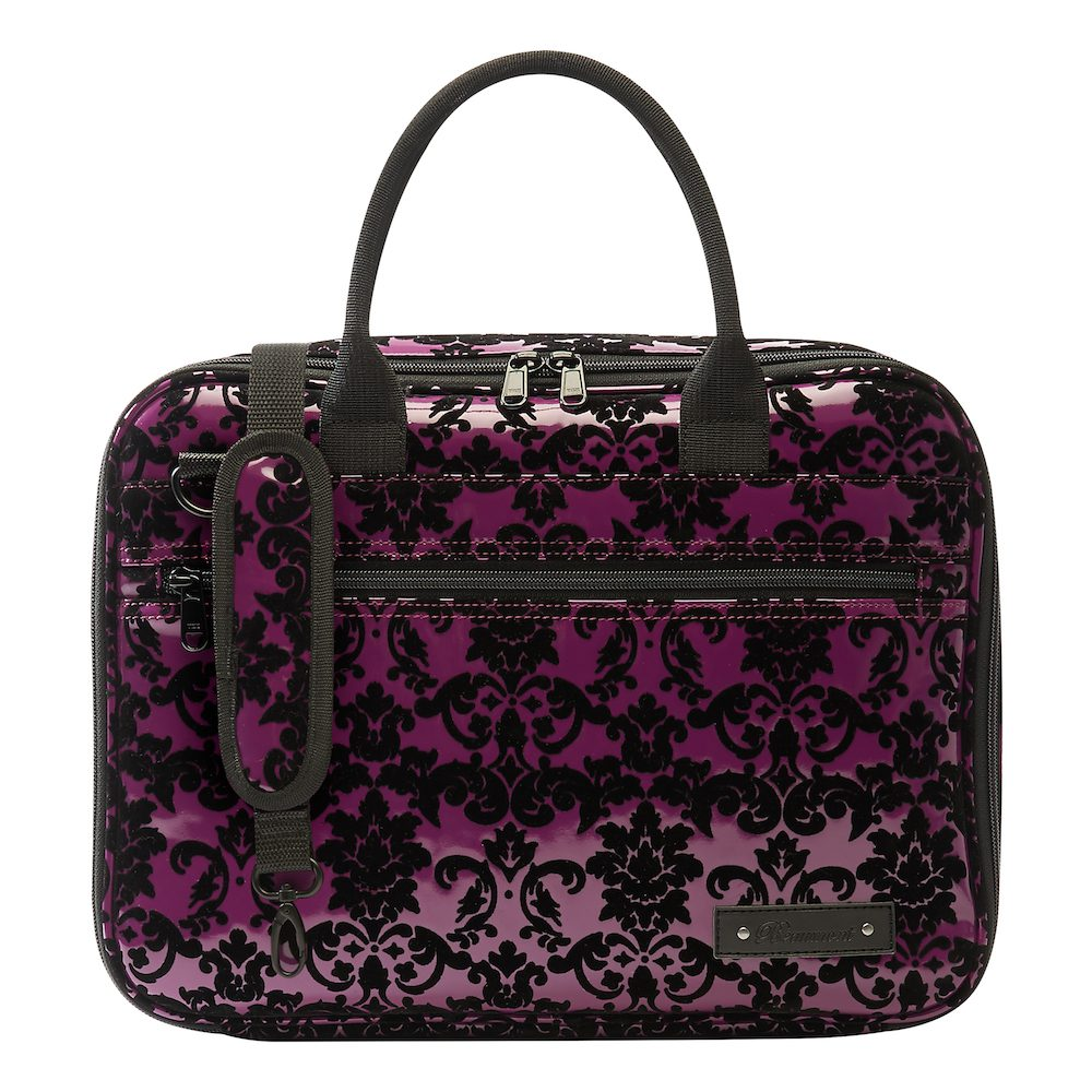 beaumont clarinetoboe carry case purple lace 3