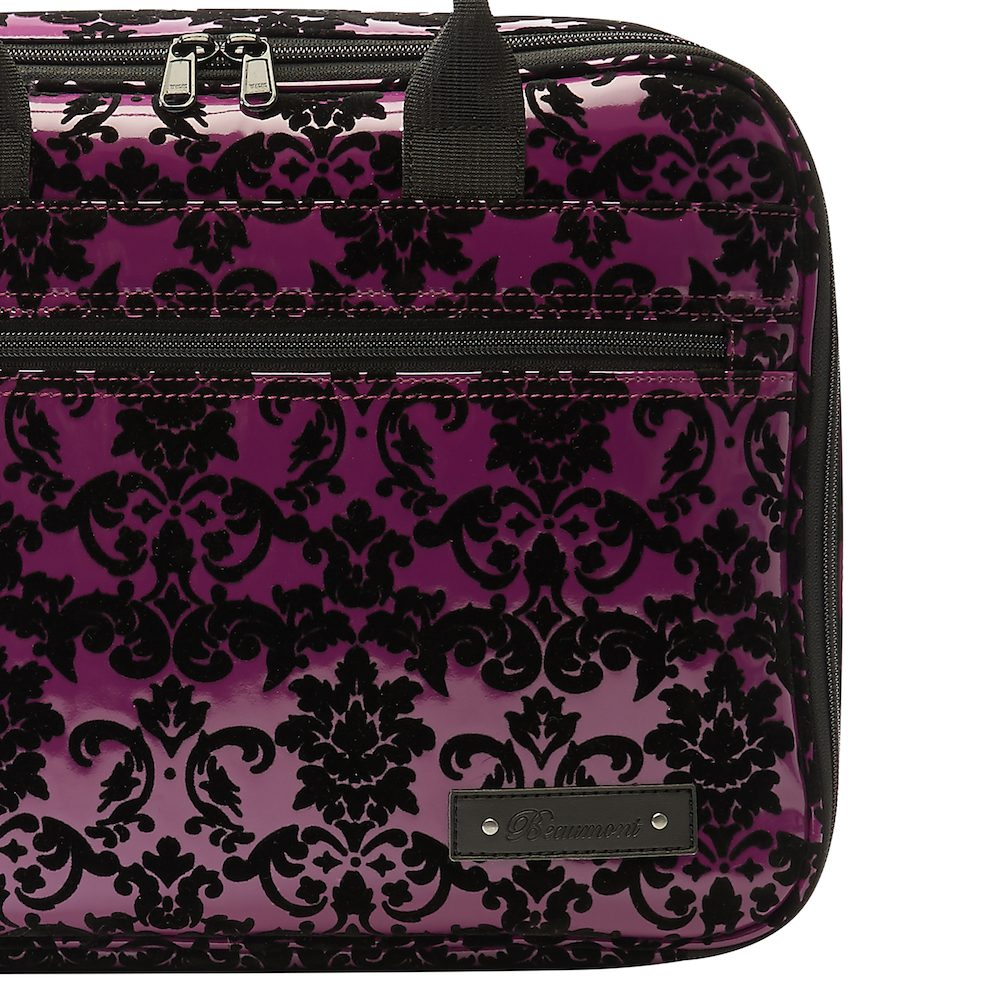 beaumont clarinetoboe carry case purple lace 5