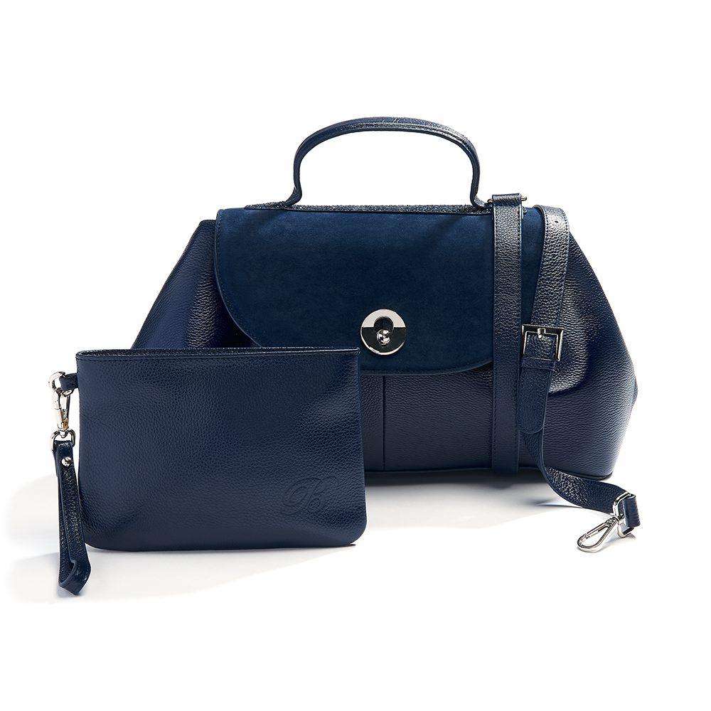 beaumont flutepiccolo leather handbag la parisienne navy 10