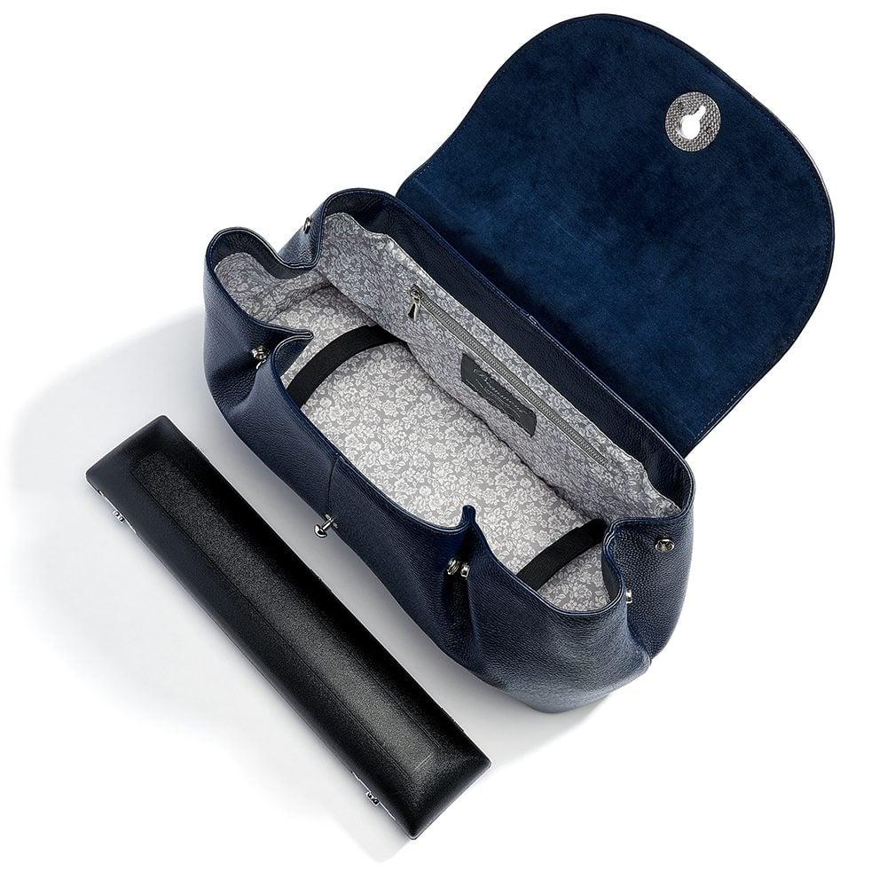 beaumont flutepiccolo leather handbag la parisienne navy 13