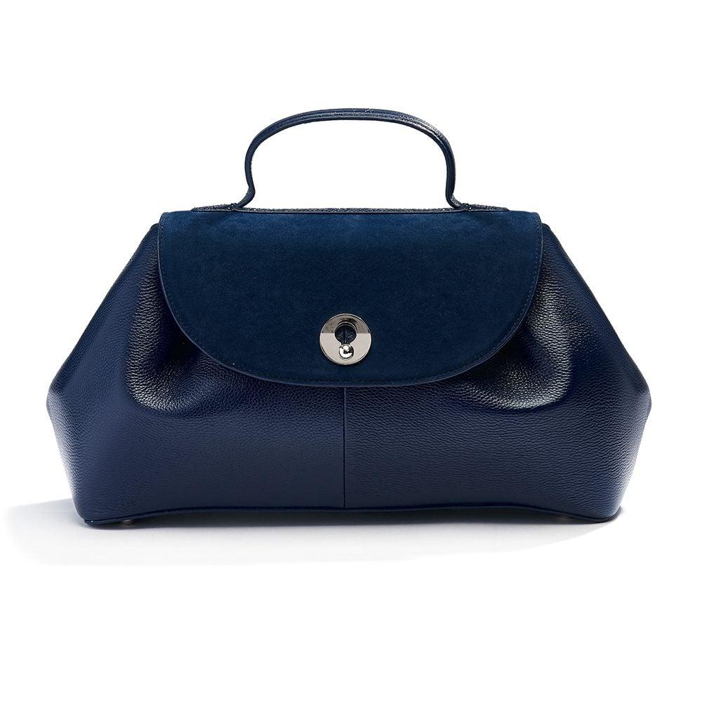 beaumont flutepiccolo leather handbag la parisienne navy 7