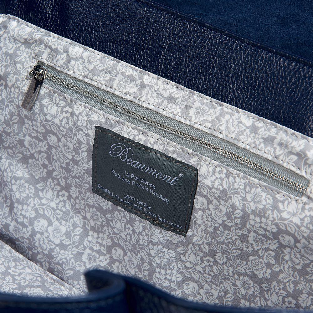 beaumont flutepiccolo leather handbag la parisienne navy 9