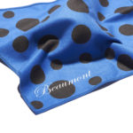 beaumont microfibre flute cleaning cloth blue polka dot 3