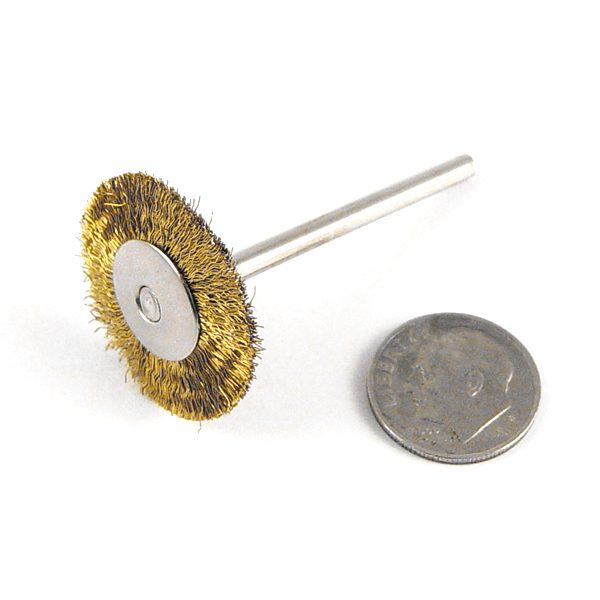 brass brush on mandrel 18 ds