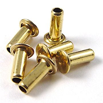 brass rivet long to be split