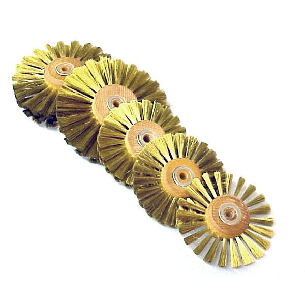 circular wire scratch brush 3dia x 1row w14 arbor hole