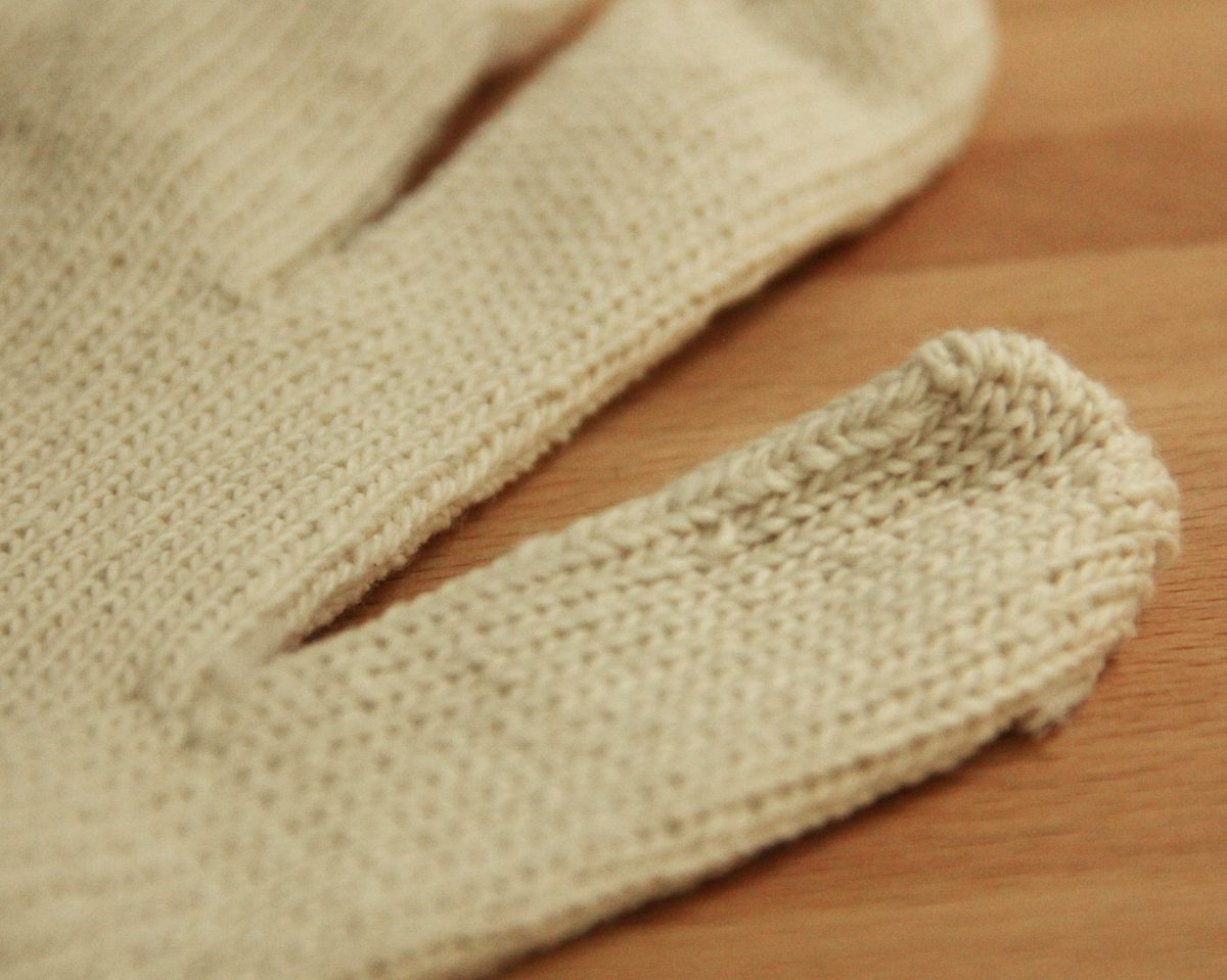 cotton string knit gloves large 2