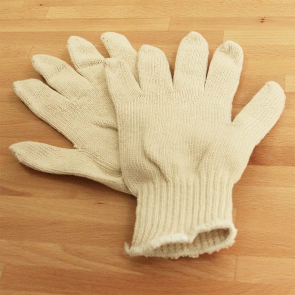 cotton string knit gloves large