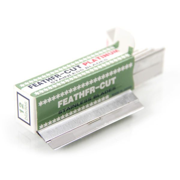 feather cut coated blades box of 12