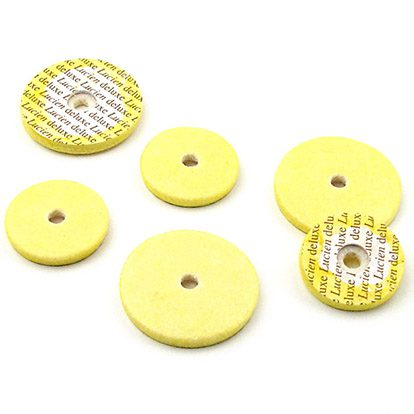 lucien deluxe altobass flute pads yellow with center hole
