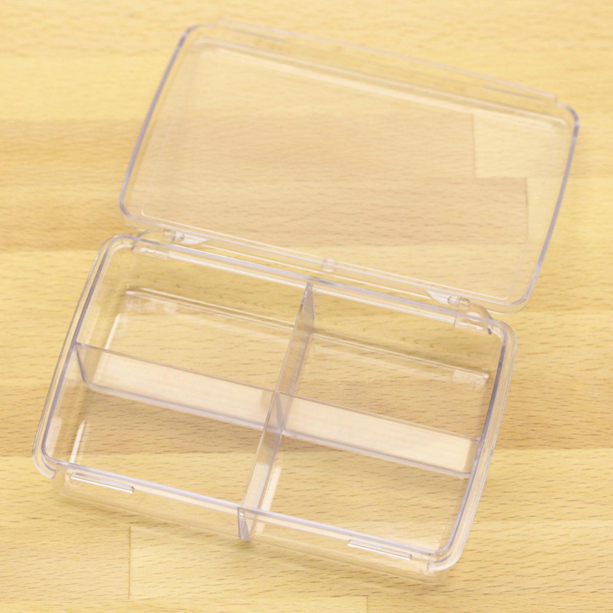 plastic box w 4 comp 2
