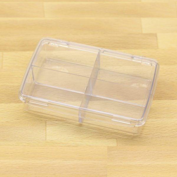 plastic box w 4 compartments