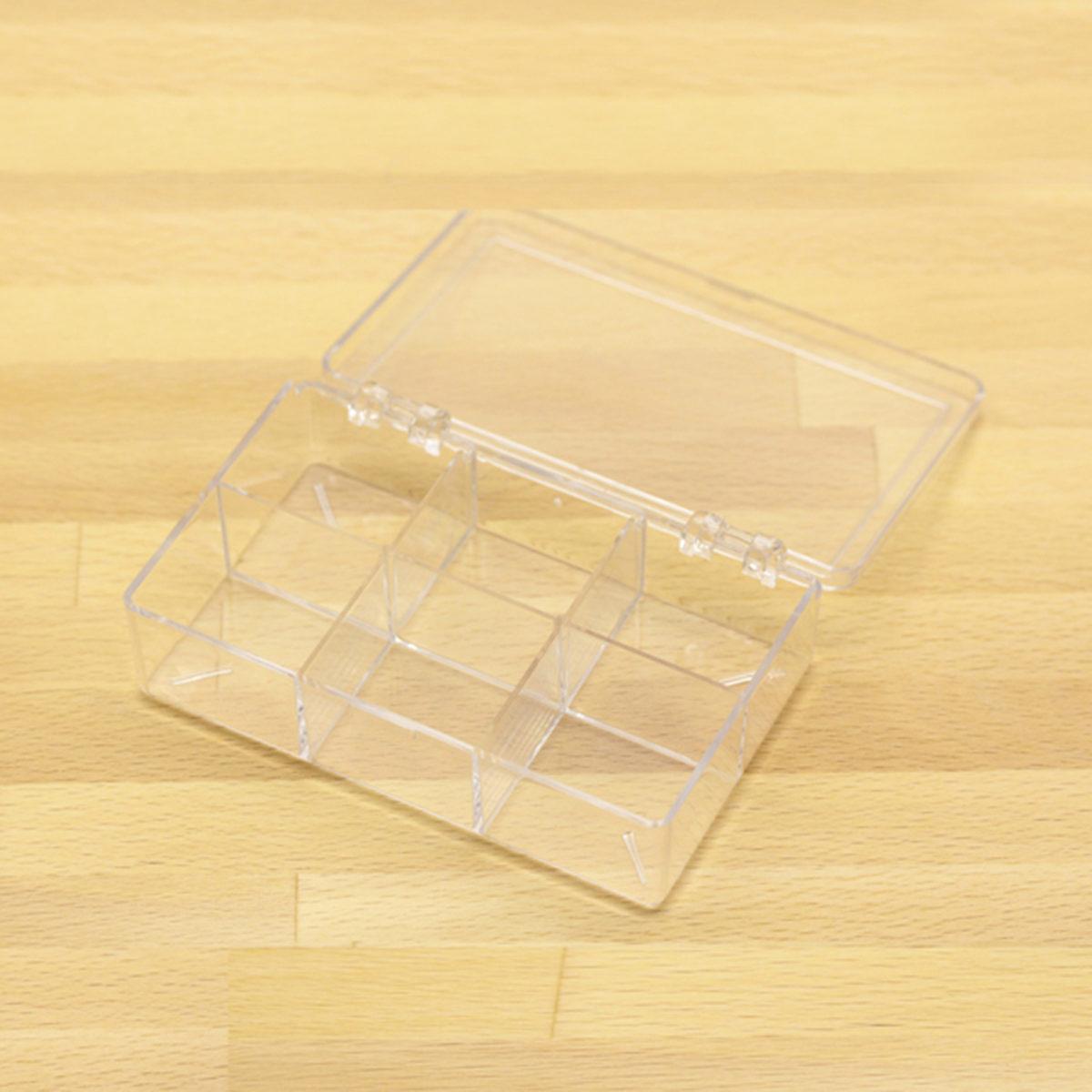 plastic box w 6 comp 2