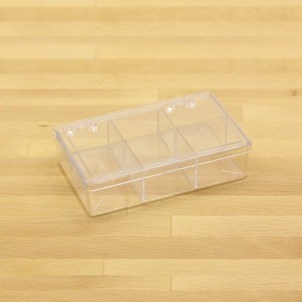 plastic box w 6 comp