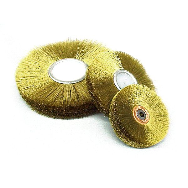 production brass wire wheel 3 dia x 12 face x 2 rows