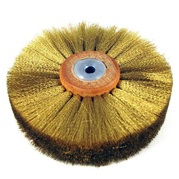 production brass wire wheel 4 dia x 1 face x 4 rows