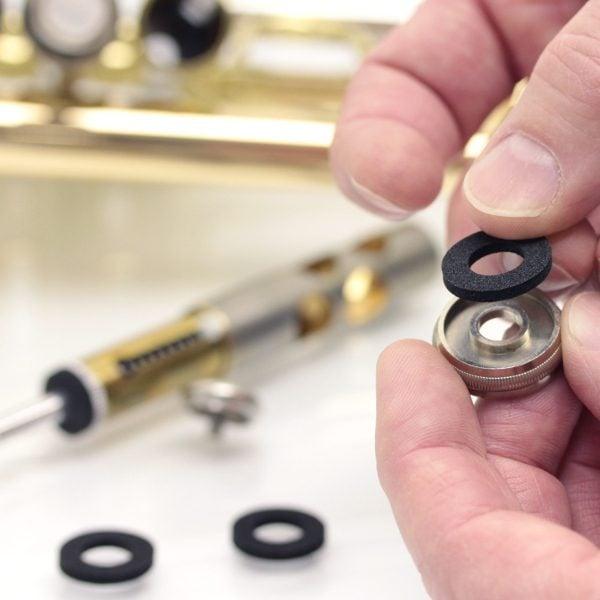 quiet black top cap washer trumpet getzen similiar 1