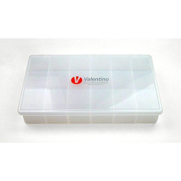 valentino logo 18 compartment box 7 x 11