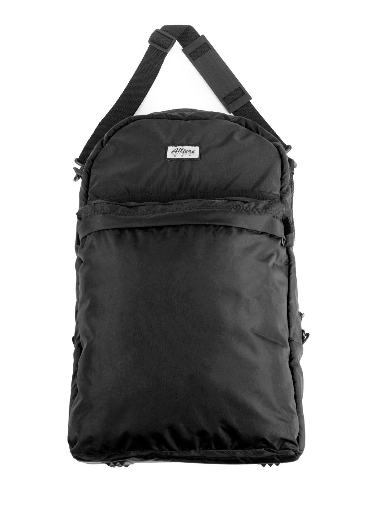 Altieri Alto Flute Backpack Front Strap View AFBP 00 BK000