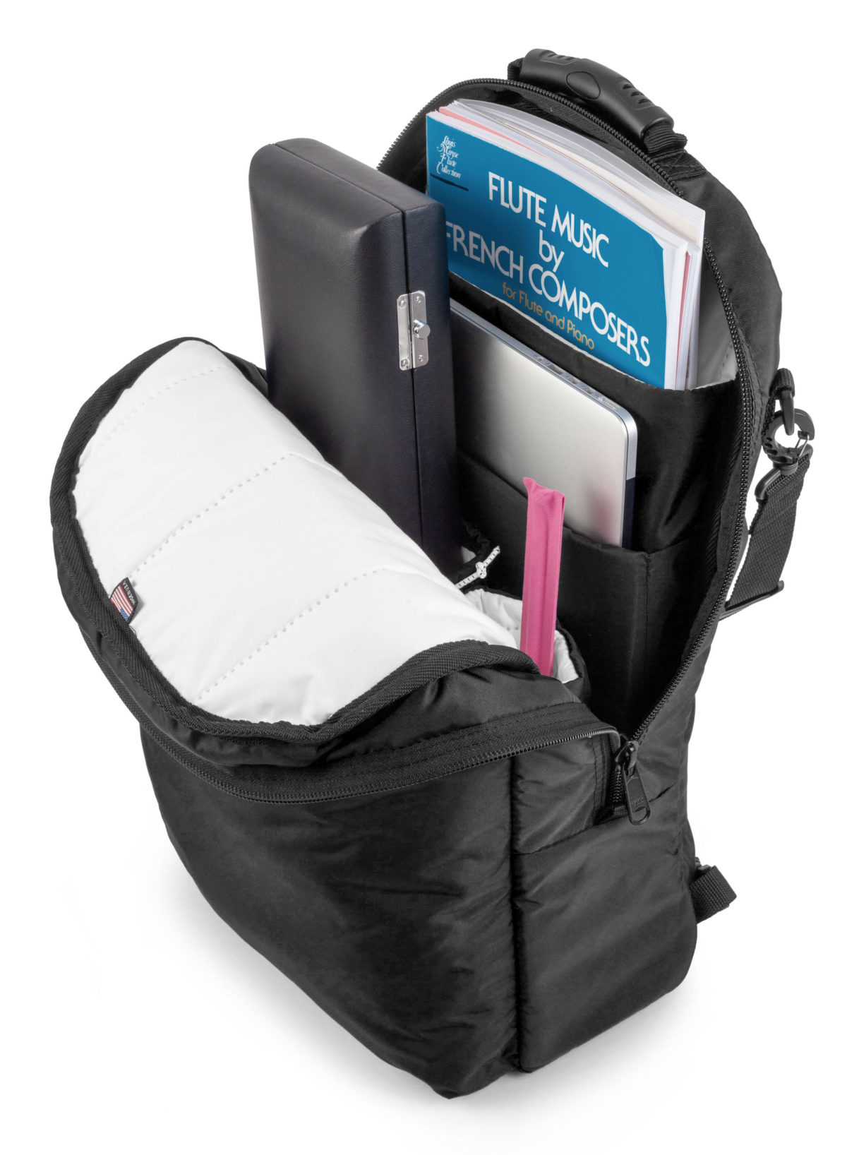 Altieri Alto Flute Backpack Inside View AFBP 00 BK000