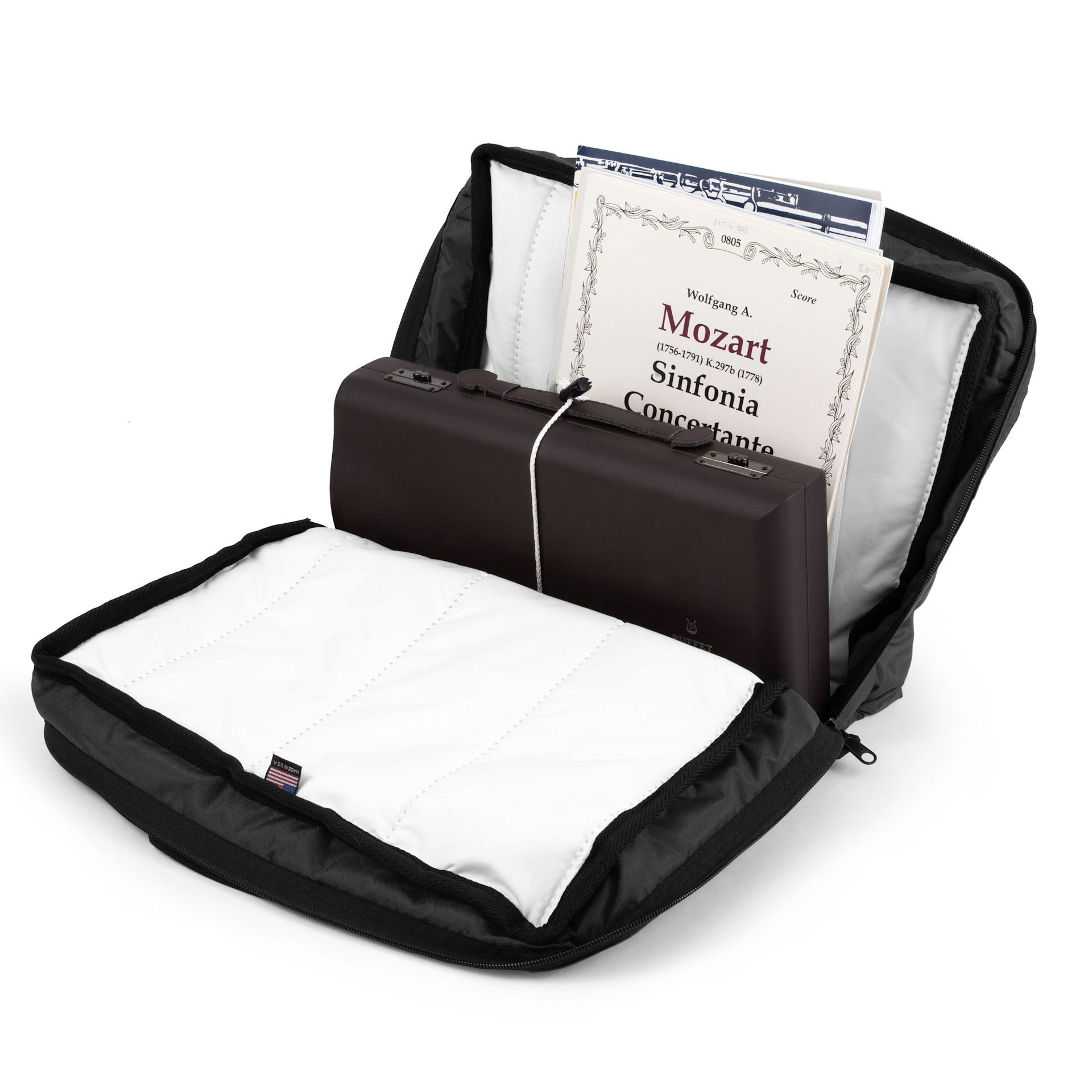 Altieri Clarinet Double Case with Double Pocket CLDP DB 1