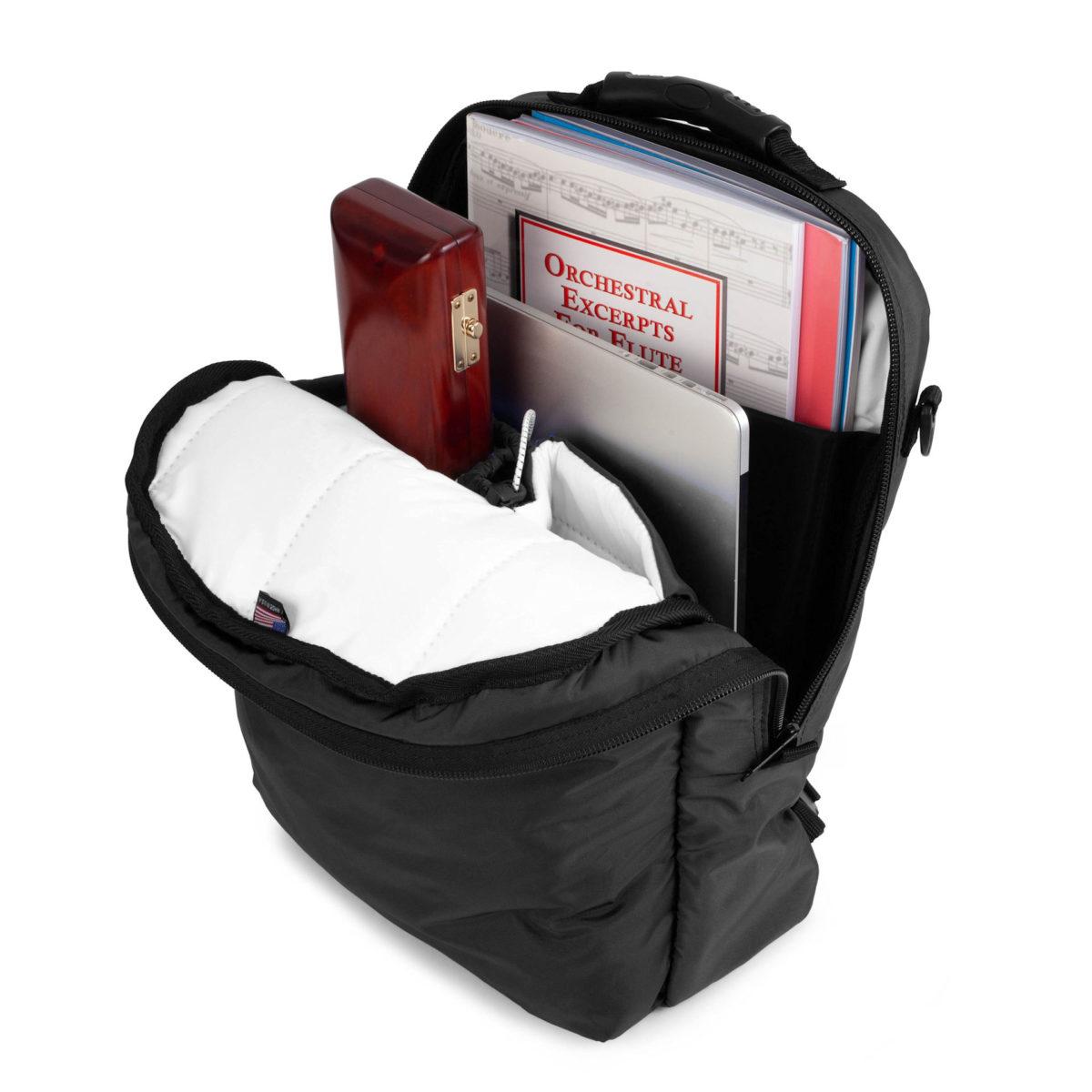 Altieri Flute Backpack Inside View FLBP 00 BK000